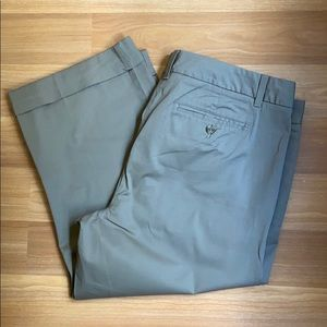 Gap Taupe Cuffed Ankle Pant / Size 16 Tall
